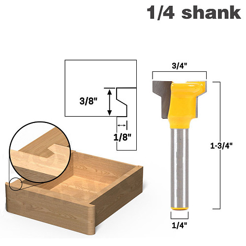 1/4  Shank Reversible Drawer Front Router Bit For Woodworking Cutter Tool Milling Cutter