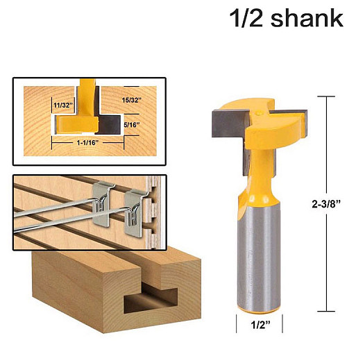 1pcs Top Quality T-Slot & T-Track Slotting Router Bit - 8  1/2'' Shank For Woodworking Chisel Cutter Wholesale Price