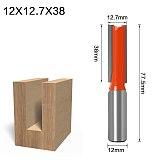 1PC 12mm Shank high quality Short Straight/Dado Router Bit Set 6,8,10,12,14,16,19,20,22 Diameter Wood Cutting Tool