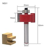 1pcs/set High Quality  T  Type Bit With Bearing 8mm shank Dovetail Router Bit Cutter wood working