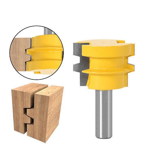 1pc Glue Joint Router Bit - Medium Reversible Woodworking Chisel Cutter Tool - 1/2 12mm Shank Tenon Cutter for Woodworking Tools