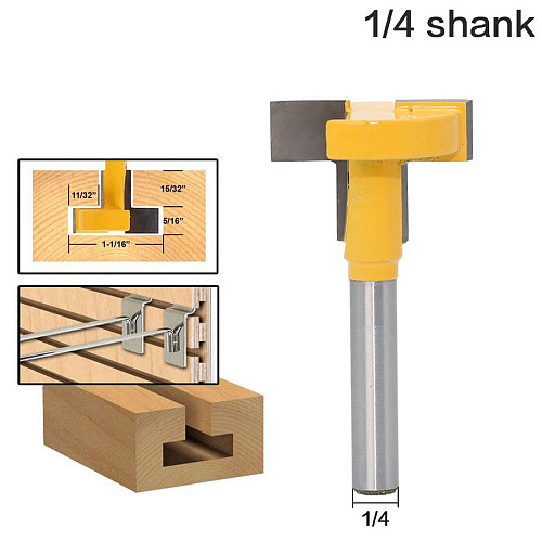 1pcs Top Quality T-Slot & T-Track Slotting Router Bit - 1/4 Shank For Woodworking Chisel Cutter Wholesale