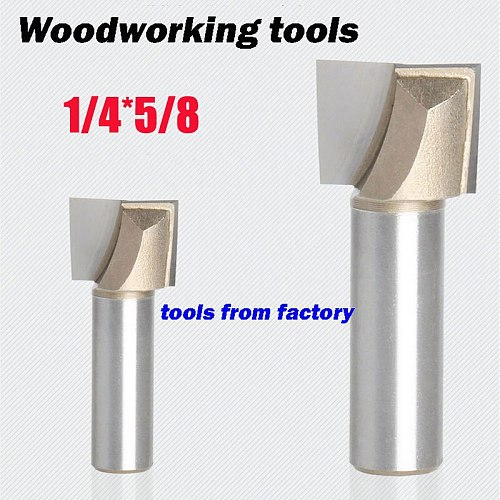 1pc wooden router bits 1/4*5/8 CNC woodworking milling cutter woodwork carving tool 1/4 SHK