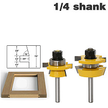 Rail & Stile Router Bit Set - Shaker 2 Pc. 1/4  Shank door knife Woodworking cutter Tenon Cutter for Woodworking Tools