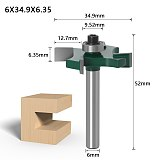 1pc 6mm 1/4 inch Shank T type bearings wood milling cutter Industrial Grade Rabbeting Bit woodworking tool router bits for wood