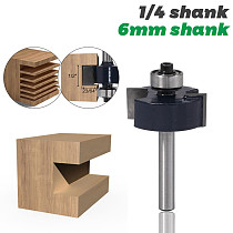 1pc 1/4  Shank 6mm shank T type bearings wood milling cutter Industrial Grade Rabbeting Bit woodworking tool router bits for woo