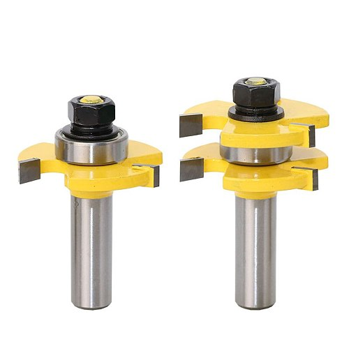 1/2  Shank Matched Tongue and Groove Router Bit- 2 pc. Set w/ Set Wood Milling Cutter flooring knife-RCT15216