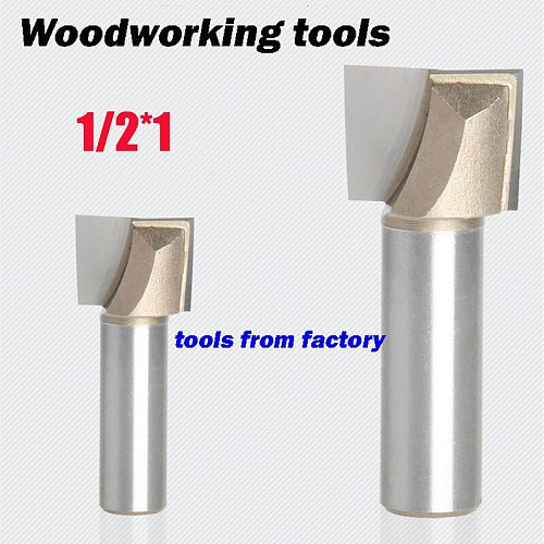 1pc wooden router bits 1/2*1 CNC woodworking milling cutter woodwork carving tool