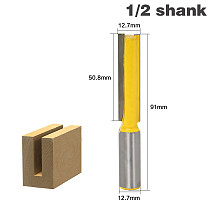 1pc 1/2 Shank Extra Long Straight Router Bit 2  Blade 1/2  Cutting Dia. Woodworking Trimming Knife