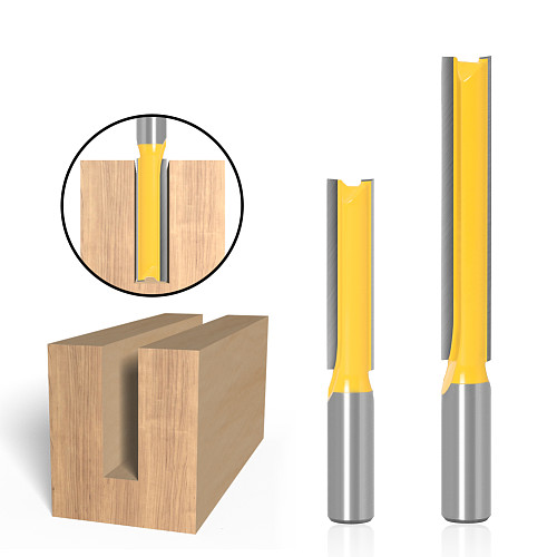 1 pc Straight/Dado Router Bit 1/2  Dia. X 2  X 3 Length - 1/2  12mm Shank Woodworking cutter Wood Cutting Tool