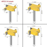 Flush trim bit ,Z4 Milling Straight Edge Slotting Milling Cutter, Cutting Handle for Wood Woodwork
