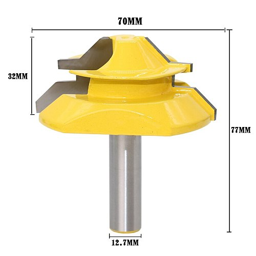Large Lock Miter Router Bit - 45 Degree - 1  Stock - 1/2  Shank 12mm shank -Tenon Cutter for Woodworking Tools-RCT15293