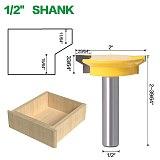 JGZUI Drawer Front Joint Router Bit - Reversible - 1/2  Shank 12mm Shank Woodworking Chisel Cutter