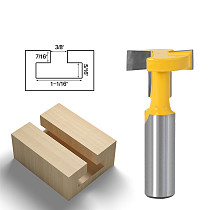 1pcs Top Quality T-Slot & T-Track Slotting Router Bit - 8  1/2'' 12mm Shank For Woodworking Chisel Cutter Wholesale Price