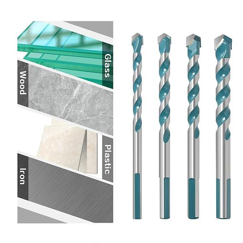 6 8 10 12mm Multi-functional Glass Drill Bit Triangle Bits Ceramic Tile Concrete Brick Metal Stainless Steel Wood
