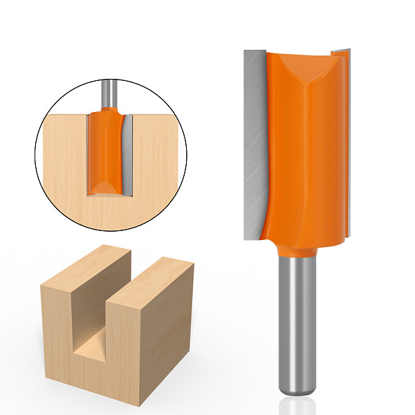 1pcs 8mm ShankThe diameter of 22 Double Flute Straight Bit Milling Cutter for Wood Tungsten Carbide Router Bit Woodwork Tool