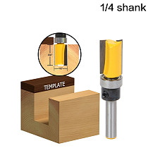 1pc Flush Trim 1/2  W x 3/4  H Router Bit Shank Bearing 1/4  Shank Woodworking cutter Tenon Cutter for Woodworking Tools RCT