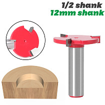 1pc 1/2  Shank 12mm shank 3 Edge T Type Slotting Cutter Woodworking Tool Router Bits For Wood Industrial Grade Milling Cutter
