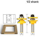 Rail & Stile Router Bits - Matched 2 Bit ,door knife Woodworking cutter Tenon Cutter, Woodworking Tools