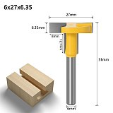 T-Track Slotting Router Bit , Woodworking Chisel Cutter Wholesale Price