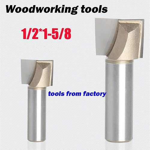 1pc wooden router bits 1/2*1-5/8 CNC woodworking milling cutter woodwork carving tool 1/2 shk