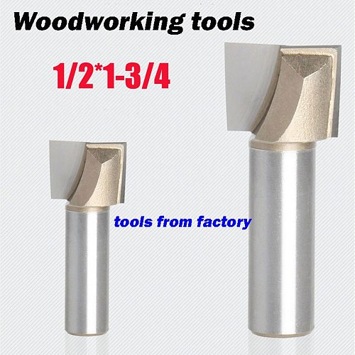 1pc wooden router bits 1/2*1-3/4 CNC woodworking milling cutter woodwork carving tool 1/2 SHK