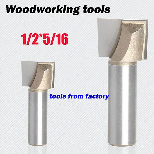 1pc wooden router bits 1/2*5/16 CNC woodworking milling cutter woodwork carving tool 1/2 SHK