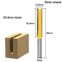 1 pc 8 Shank Extra long 2  Blade 1/2  Cutting Dia. Straight Router Bit Woodworking cutter Tenon Cutter for Woodworking