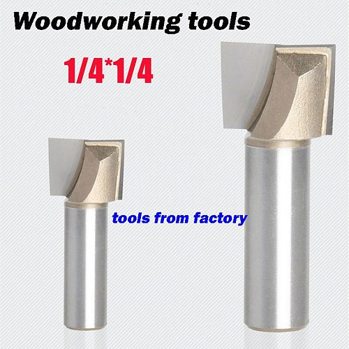 1pc wooden router bits 1/4*1/4 CNC woodworking milling cutter woodwork carving tool 3106