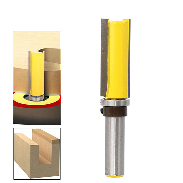 1pc Template Router - Flush Trim bit - with 1/2  Shank Woodworking cutter Tenon Cutter for Woodworking Tools