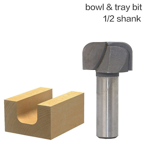 1pcs 1/2  Shank Bowl & Tray Template Router Bit Tungsten Carbide endmill For Woodworking Cutting Tool wood milling cutter