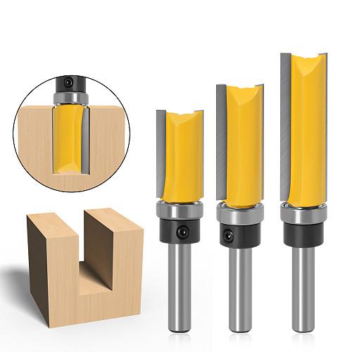 1-3pcs 8mm Shank Flush Trim Router Bit Pattern Bit Top Bottom Bearing 5/8  Blade Template Wood Milling Cutter Carpenter