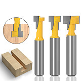 T-Slot Cutter Router Bit, Set Hex Bolt Key Hole Bits, T Slotting Milling Cutter for Wood Woodworking