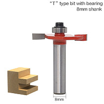 1/4  Height X 3/8  Depth Slot Cutter Router Bit - 1/4  Shank  woodworking tool router bits for wood