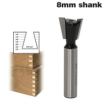 1pc8mm Shank High Quality Industrial Grade Wood Cutter Dovetail Router Bits for wood Tungsten Engraving Tool Milling