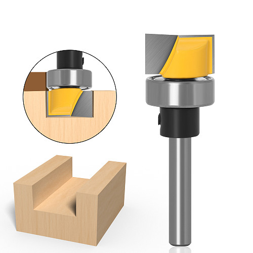 1pc Hinge Mortise/Template Router Bit - 3/4 W X 7/16 H - 1/4  6mm Shank Woodworking cutter Tenon Cutter for Woodworking Tools