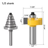 Rabbet Router Bit with 6 Bearings Set , Woodworking cutter Tenon Cutter ,Woodworking Tools