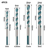 Multi-functional Glass Drill Bit, Triangle Bits Ceramic Tile Concrete Brick Metal Stainless Steel Wood