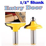 2 PC 1/2  Shank Entry Door for Long Tenons Router Bit woodworking cutter woodworking bits Tenon Cutter for Woodworking Tools