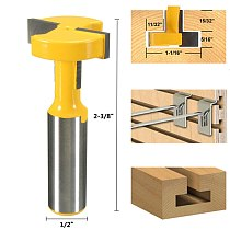 Top Quality T-Slot & T-Track Slotting Router Bit - 1/2'' Shank For Woodworking Chisel Cutter Wholesale Price
