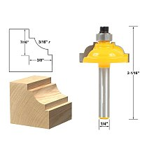 1pcs Classical Cove Edging Router Bit - 3/16  Radius -1/4  Shank