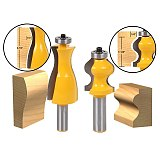 2PCS/SET Bit Jewelry Box Side and Foot Mold Router Bit Set - 1/2  Shank