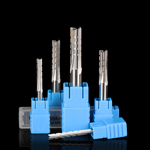 TCT three flutes straight bit 6mm end mill wood cutting tools straight router bits for solid wood