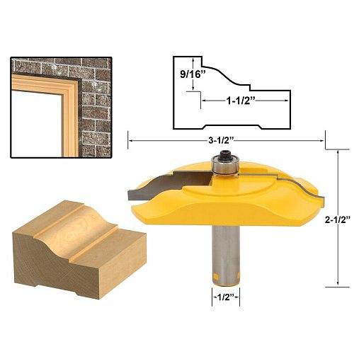 1pcs Brick Mold & Exterior Casing Router Bit - 1/2  Shank