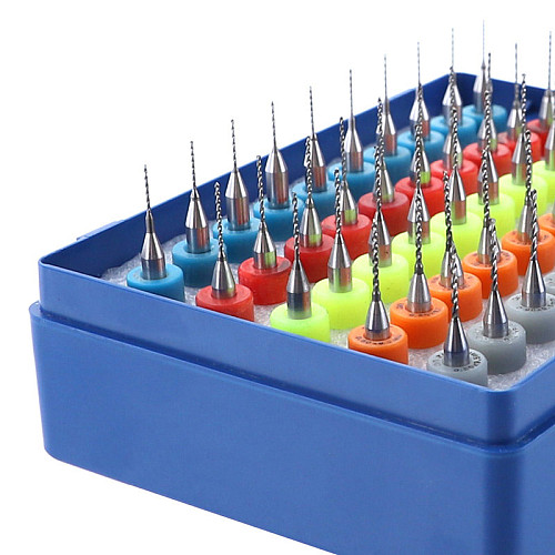 50pcs/set PCB Drill Bits 0.5-0.9mm Tungsten Carbide Mini Drill Bit For Print Circuit Board CNC Engraving Tools