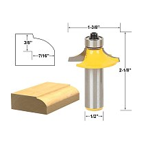 1pcs Drawer & Cabinet Door Front Edging Thumbnail Router Bit-1/2  Shank