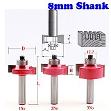 3pcs/set High Quality  T  Type Bit With Bearing 8mm shank Dovetail Router Bit Cutter wood working