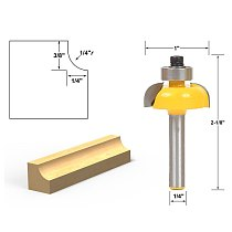 1pcs Cove Edging and Molding Router Bit - 1/4  Radius - 1/4  Shank
