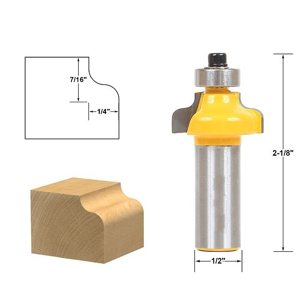 1pcs Ogee Edging and Molding Router Bit - Small - 1/2  Shank