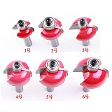 6pcs/set High Quality Cove Bit With Bearing 8mm shank Dovetail Router Bit Cutter wood working
